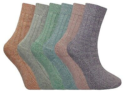 2 Pairs Womens Thick Cushioned Padded Sole Boot Socks Winter Warmers Size 4-7
