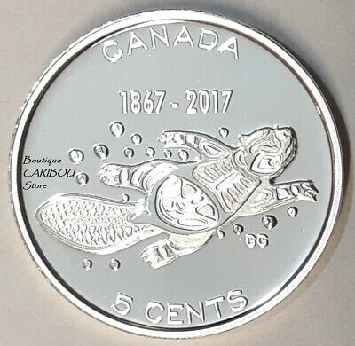 2017 Canada 150th Anniversary Silver Proof 5 Cents