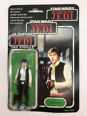 Vintage Star Wars 1983 Return Of The Jedi Han Solo Tri Logo Big Head Variant