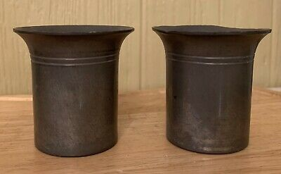 2 - Antique Winthrop Pewter Cups Pattern 2297