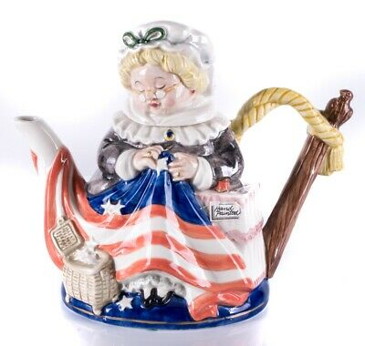 Fitz and Floyd Betsy Ross Limited Edition Teapot 1993