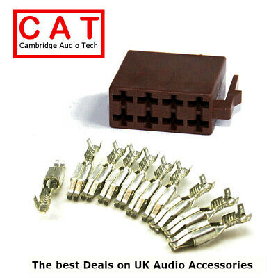 M-56-KIT Car Radio Male Speaker ISO Connector Housing with Pins