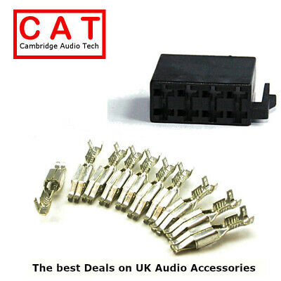 M-57-KIT Car Radio Male Power ISO Connector Housing with Pins