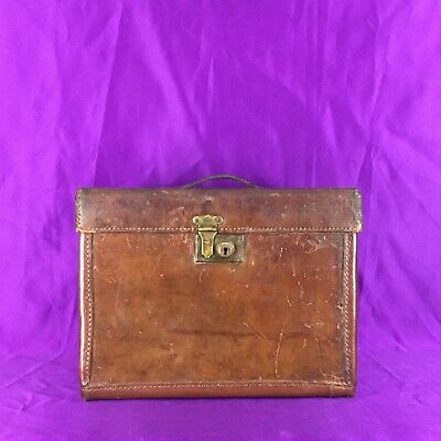Vintage Leather Top Hat Case • Henry Heath • Fully Restored • Luggage English