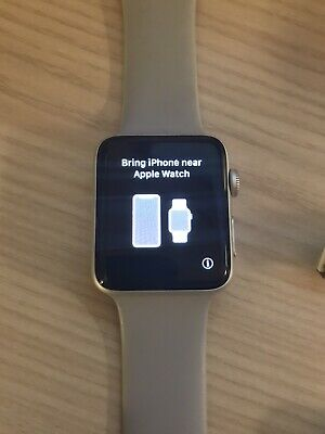 apple watch series 42mm stainless steel (hairline crack)