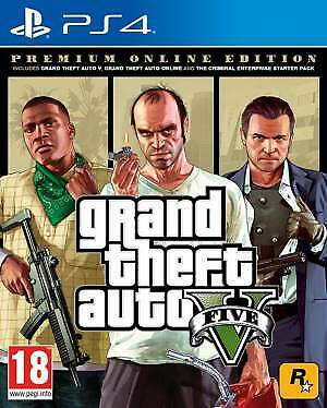 PS4 GTA Grand Theft Auto 5 - Premium Edition EU Videogame Sony Play Station 4 gi