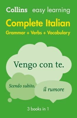 Easy Learning Italian Complete Grammar, Verbs and Vocabulary (3 books in 1 >MINT