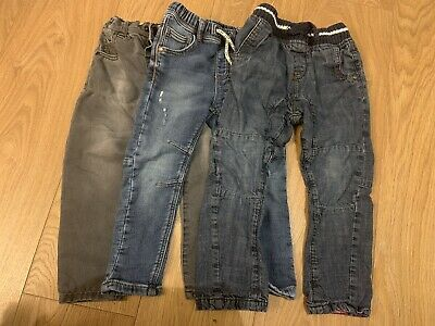 Boys Next Jeans aged 2 - 3 (3 Pairs) Good Condition