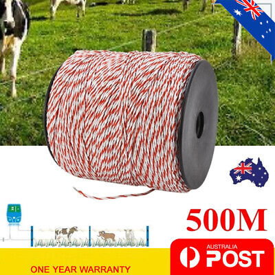 1pcs 500m Roll Polywire for Electric Fence Fencing Stainless Steel Poly Wire New
