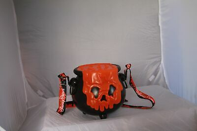 Disney Parks Halloween 2019 Orange Cauldron Light-up Popcorn Bucket Lanyard
