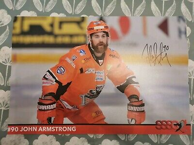john armstrong signed 18x12 sheffield steelers