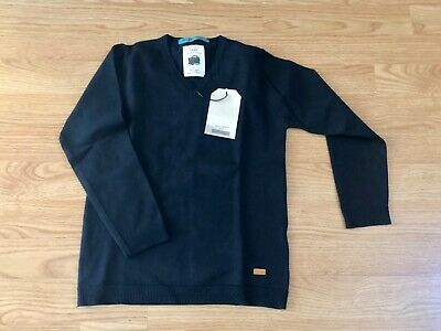 $45 Zara School boys knitted pullover sweater dark blue navy size 6 New with Tag