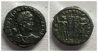 Roman Empire Constantius II AE3 330-333 AD Soldiers and Standards Constantinople