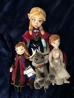"""Disney Frozen Anna 9"""" And 16"""" Plush Dolls by Just Play Sven"""