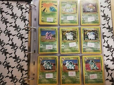 Lotto 300Carte Pokemon Base set, Neo Destiny, Neo Discovery, Fossil ecc. NM/MINT