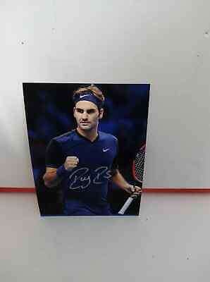 Foto Tennis Photo  Roger Federer RF Signed Autografata Signed with COA