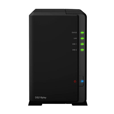 New  Synology Diskstation Ds218play Ethernet Lan Compact Black Nas DS218PLAY