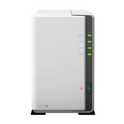 New  Synology Diskstation Ds218j Ethernet Lan Compact White Nas DS218J