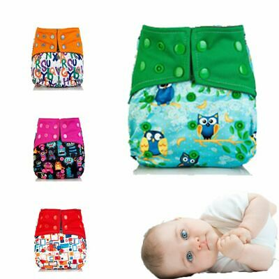 Charcoal Adjustable Washable Washable Cloth Pocket Nappy Baby Diaper Cover Wrap