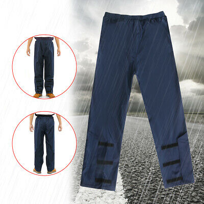Thick  Adjustable Pants Mens Womens Waterproof Over Trousers Fishing Walking