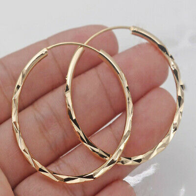 Fashion 18k Gold Plated Hoop Earrings for Women Jewelry Free Shipping A Pair/set