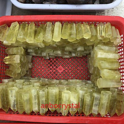 2.2LB Natural Quartz Citrine Crystal Obelisk Point Wand Energy Healing Wholesale