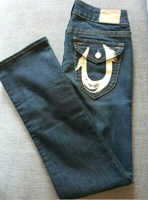 "☆True Religion☆ Original ""Yellow Straight Jeans Women's Size 30 NWOT RRP $95"