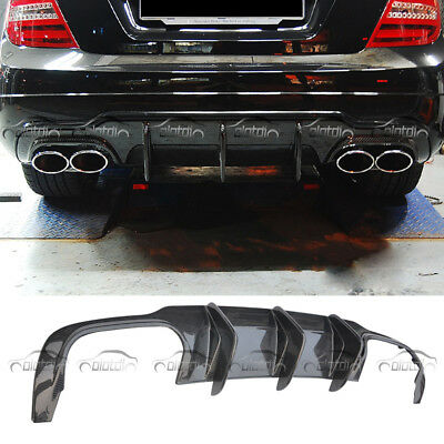 Carbon Fibre Rear Diffuser Lip For Mercedes Benz W204 C63 AMG C Class 2012-2015