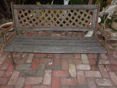 Cast Iron And Wooden Garden Bench Seat Decoritive Ends