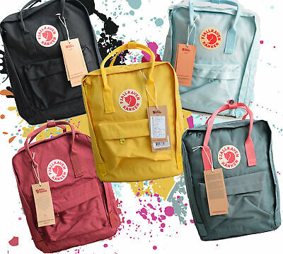 Waterproof Fjallraven Kanken Sport Backpack Canvas Travel Bag Handbag 7L/16L/20L