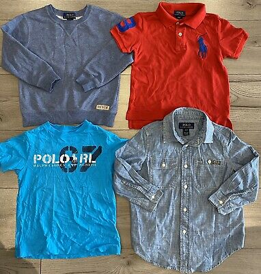 Boys Ralph Lauren Top Clothing Polo Bundle Age 4 -5 Years Used T Shirt Blue Red