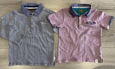 Boys Ted Baker Polo Top Shirt Used Clothes Kids Blue Age 4-5 Years