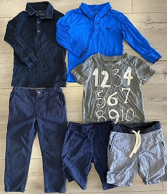 Boys Clothing Bundle Top Trousers T Shirt Next Shorts Used Age 3-4 Blue Polo Top