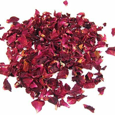 Edible dried red rose flower petals 5gms. No added colours or flavours