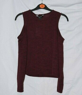 New look 915 Girls Burgundy Cold Shoulder Top Age 12-13 BNWT