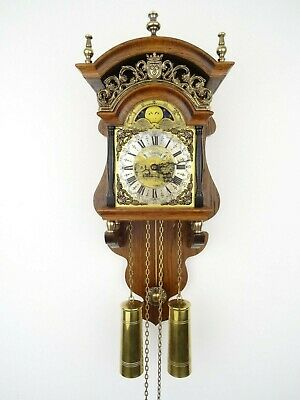 Dutch Warmink Wuba Sallander Vintage Wall Clock Moonphase 8 day (Friesian era)
