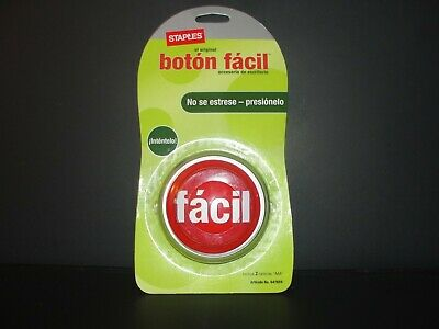 PAPER WEIGHT ONLY NON WORKING STAPLES TALKING EASY BUTTON SPANISH BOTóN FáCIL