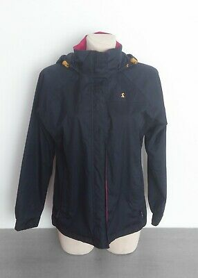 Joules Women's Jacket Rabbit Hooded Parka Outdoor Size 10 S Small 38 Navy Pink