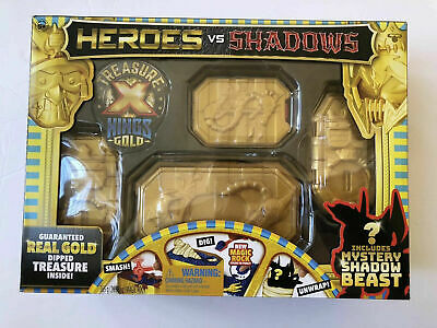 Treasure X Heroes vs Shadows Real Gold Dipped Treasure NEW SEALED Toy Surprise