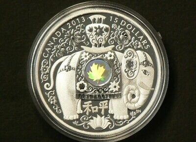 2013 'Maple of Peace' $15 Silver Coin 1oz .9999 Fine