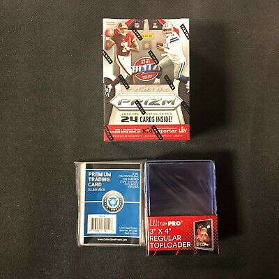 2019 Panini Prizm Football Blaster Box New Factory Sealed w/ Toploader+Sleeves