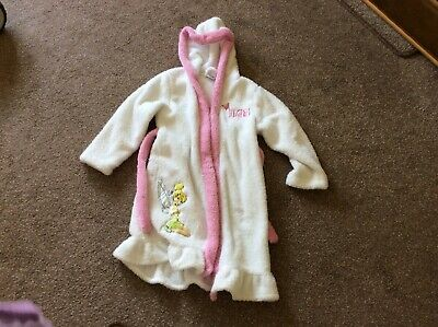 Girls Disney Tinkerbell dressing gown age 7-8