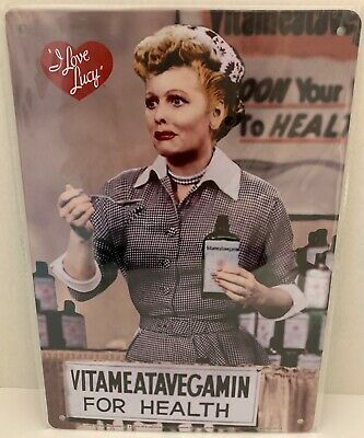 Lucille Ball Staying Young TIN SIGN metal poster i love lucy home bar decor 1530