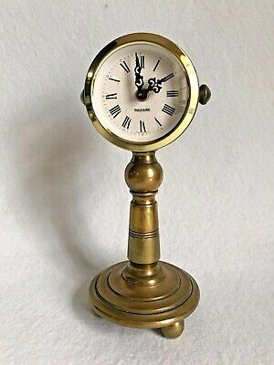 Vintage Brass German Mantle Clock By Mercedes