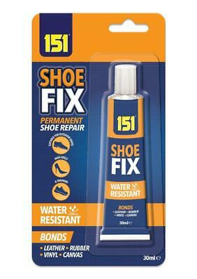 SHOE GLUE 30ml ADHESIVE WATERPROOF TRAINERS HEELS LEATHER CANVAS RUBBER