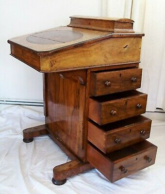 Antique Quality Victorian Inlaid Davenport Writing Desk