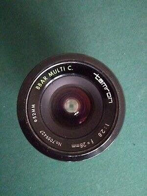 Tamron Adaptall 28mm F2.8 Lens (no mount) with case.