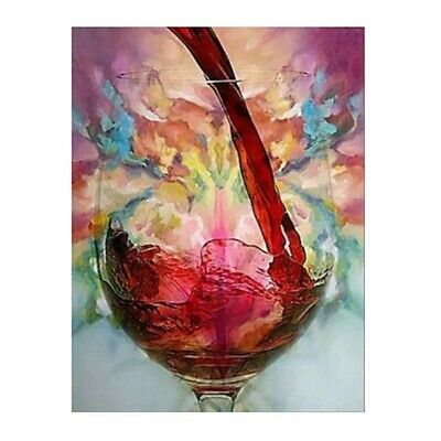 Craft Abstract Red Wine Glass Canvas Oil Painting Print Living Room Decorative