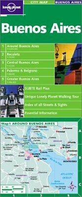 Lonely Planet Buenos Aires City Map (Lonely Planet City **Brand New**