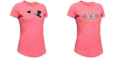New Under Armour Girls Logo Graphic Print Shirt Choose Size